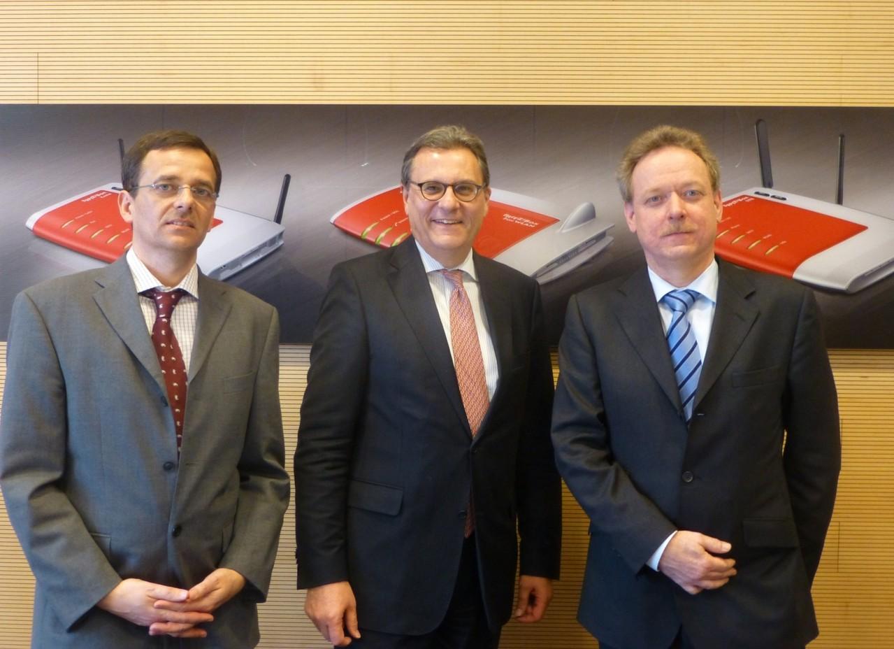 Besuch bei AVM, dem Hersteller der Fritz! Boxen: mit den Unternehmensgründern  Peter Faxel und Johannes Nill