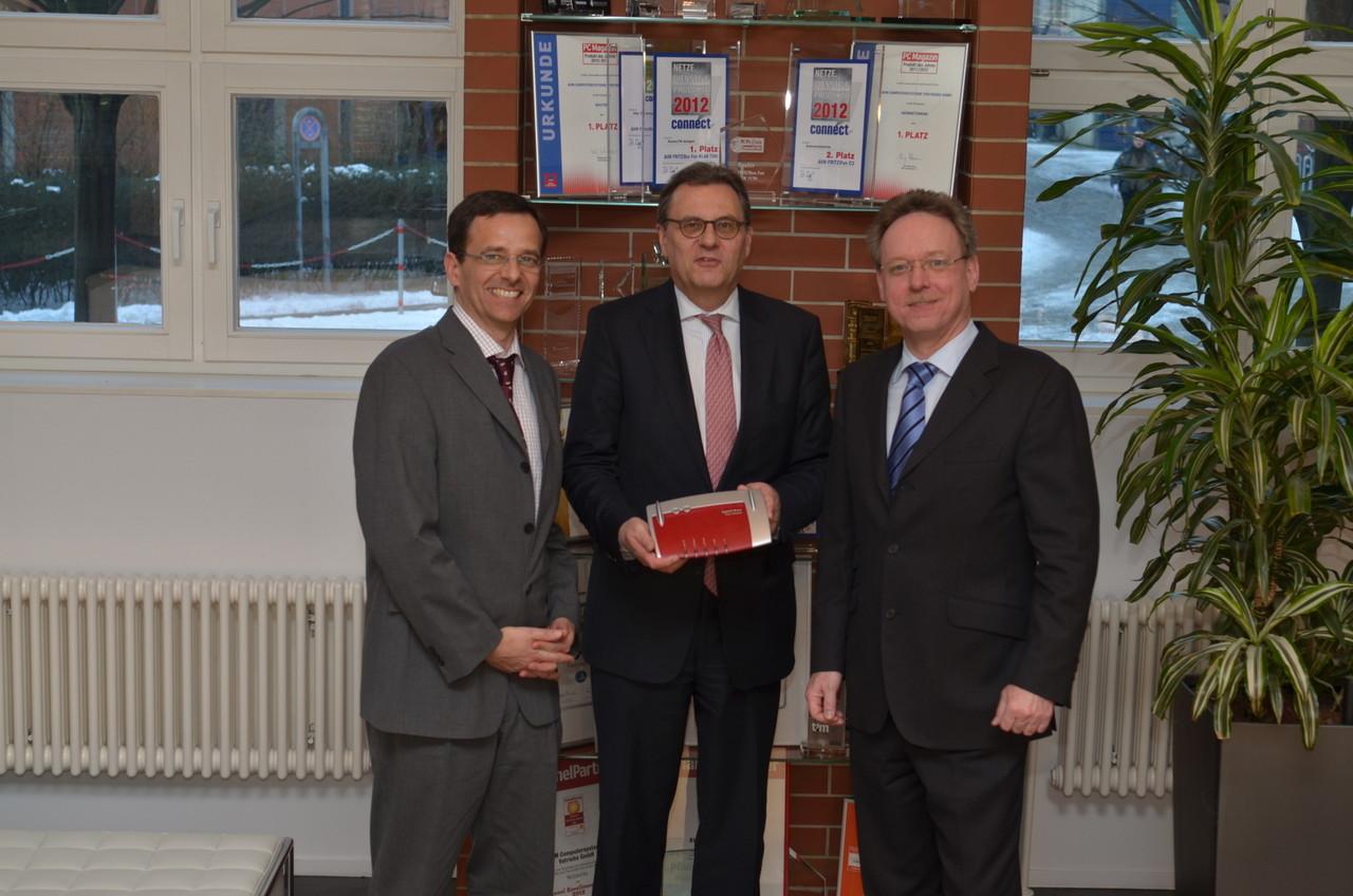Besuch bei AVM, dem Hersteller der Fritz! Boxen: Innovation zahlt sich aus und wurde bereits vielfach ausgezeichnet.