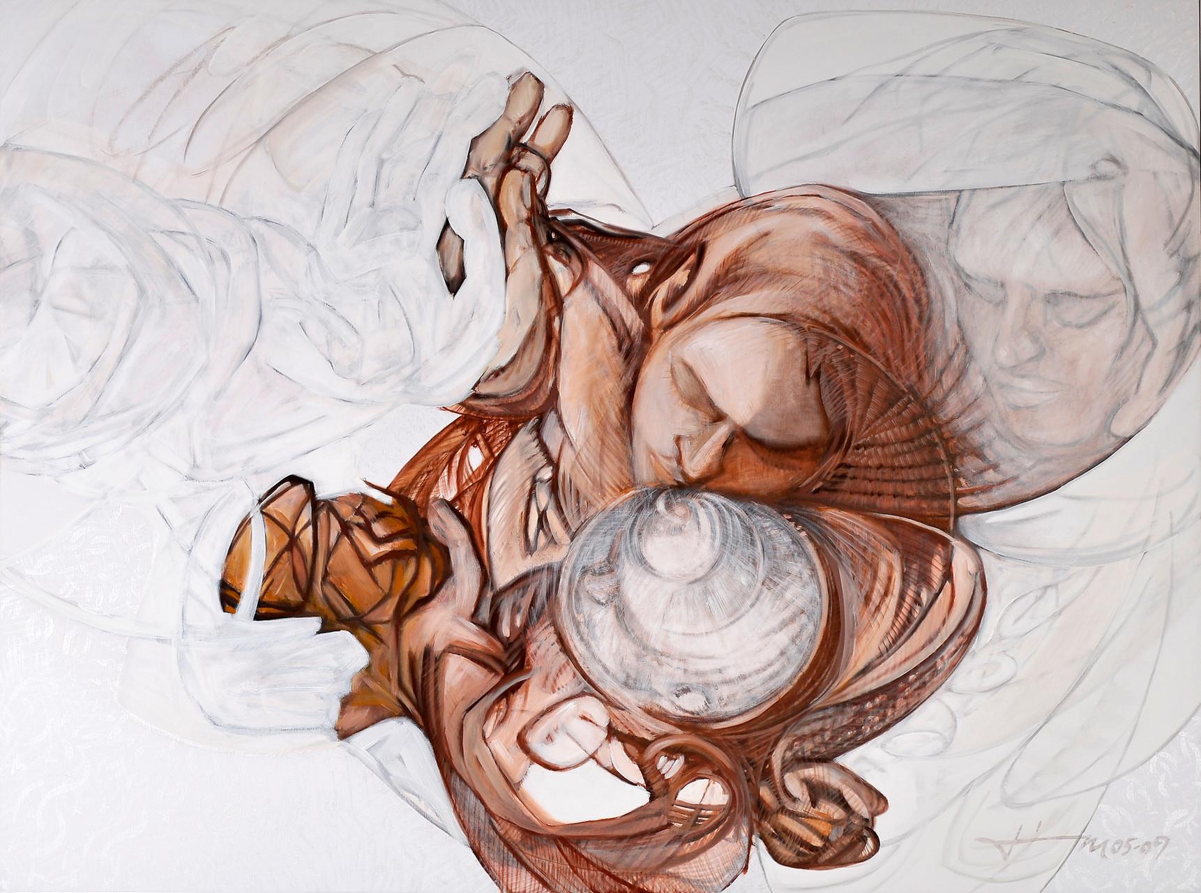 Vollkommenheit, Thomas M. Mayrhofer, 2005-2009, 195x145cm, Acryl auf Textil