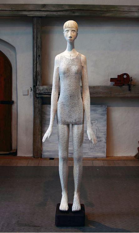 Tochter V2, Linde bemalt, 180 cm, Hanna Regina Uber