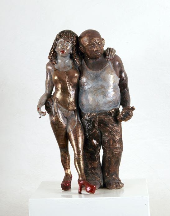 True Love, Bronze Unikat, 38 cm Hanna Regina Uber