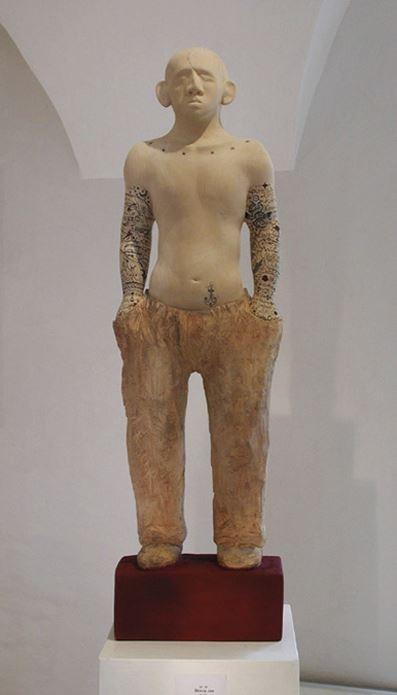 Skinny Joe, Holz, 82 cm, Hanna Regina Uber