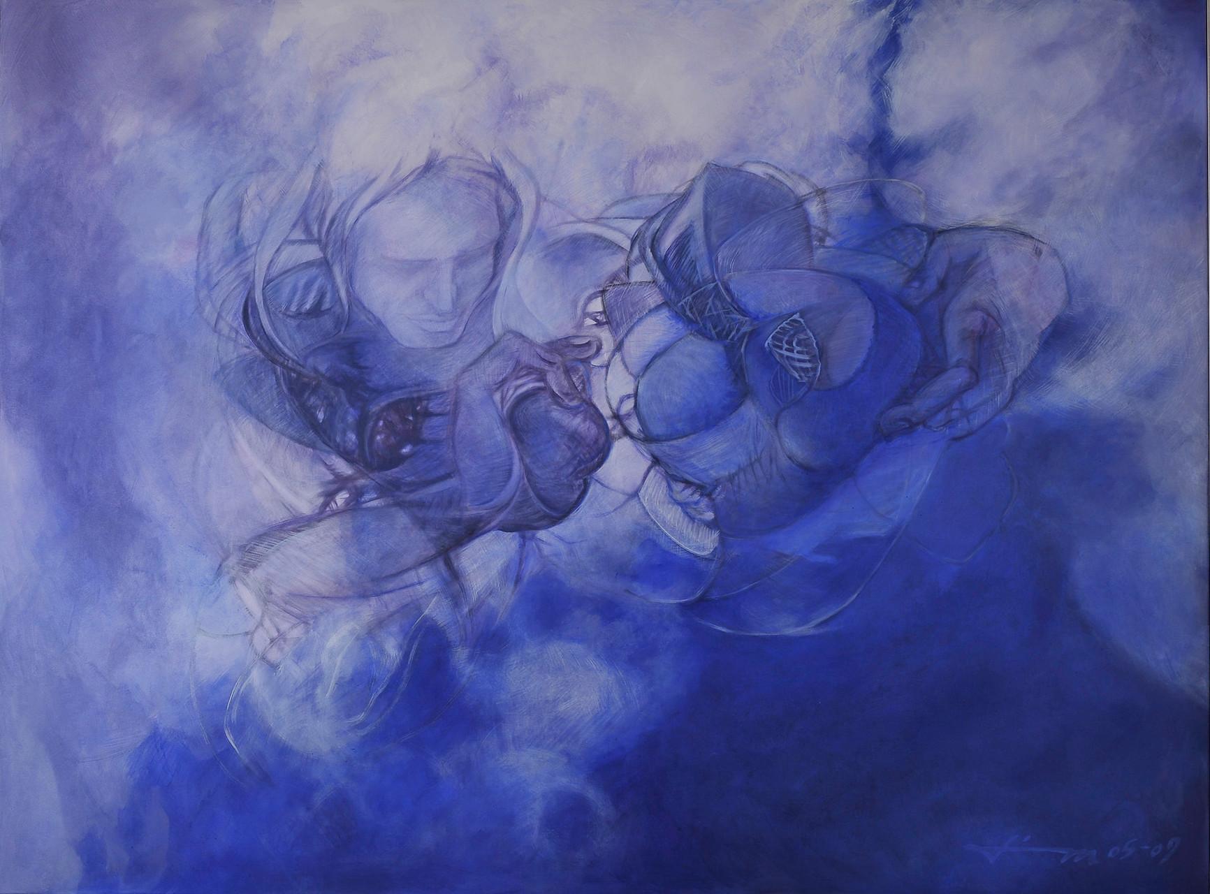 Erschaffung, Thomas M. Mayrhofer, 2005-2009, 195x145cm, Acryl auf Textil