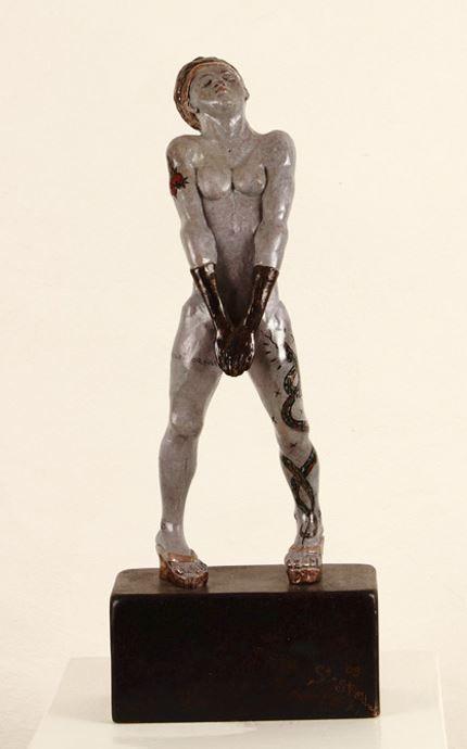 Stelle, Bronze Unikat, 44 cm, Hanna Regina Uber