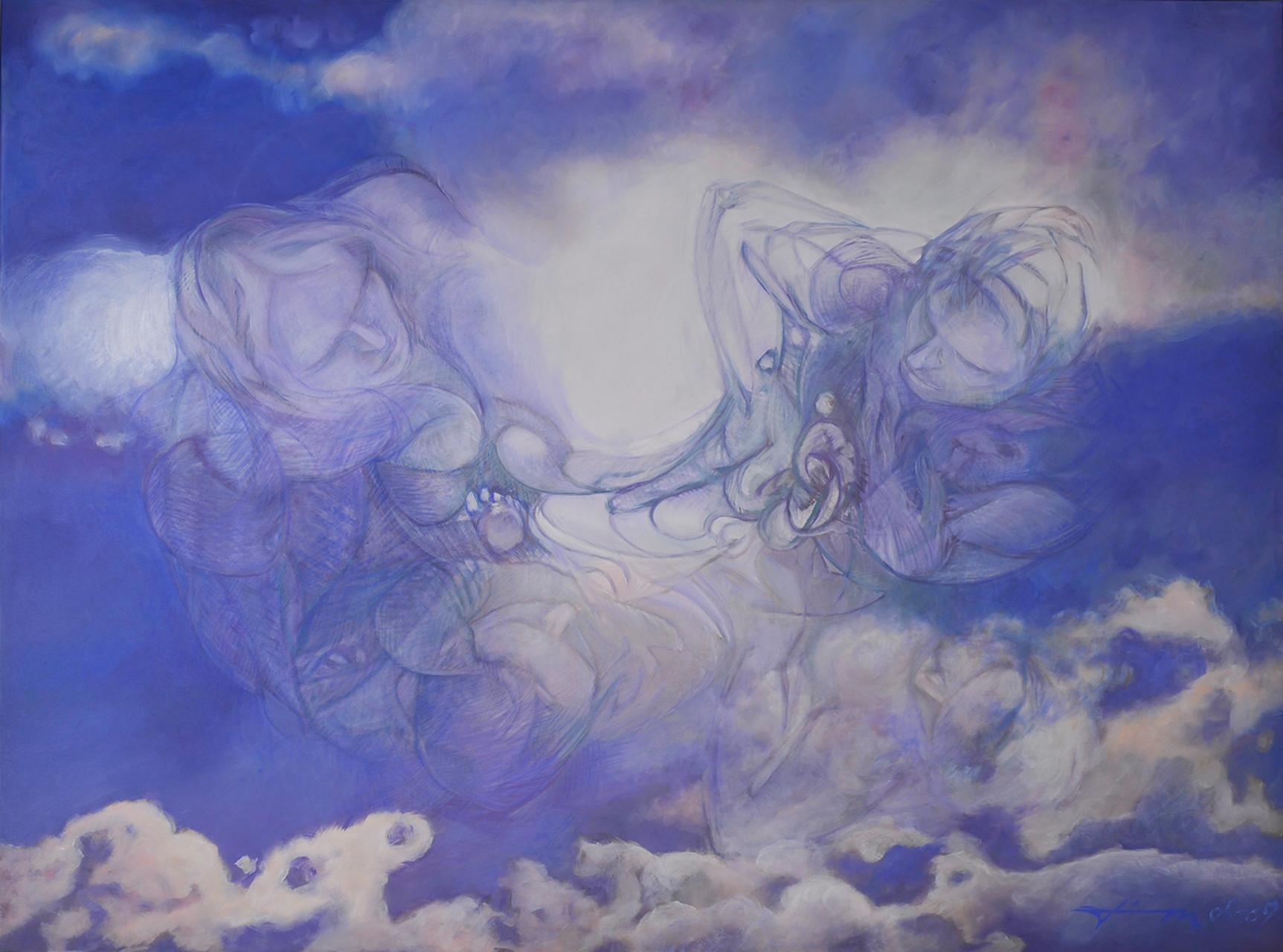 Erleuchtung, Thomas M. Mayrhofer, 2005-2009, 195x145cm, Acryl auf Textil