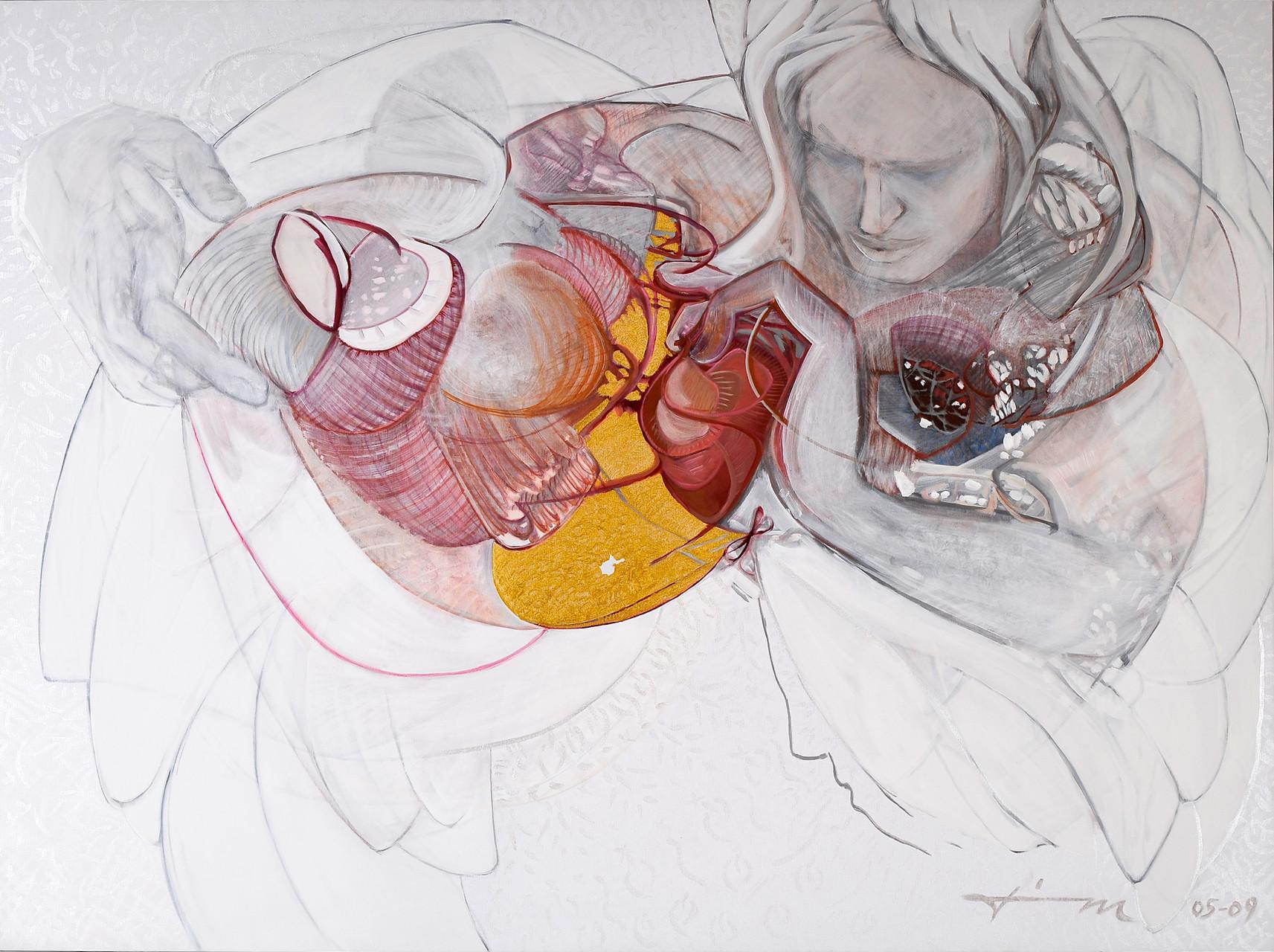Ursprung, Thomas M. Mayrhofer, 2005-2009, 195x145cm, Acryl auf Textil
