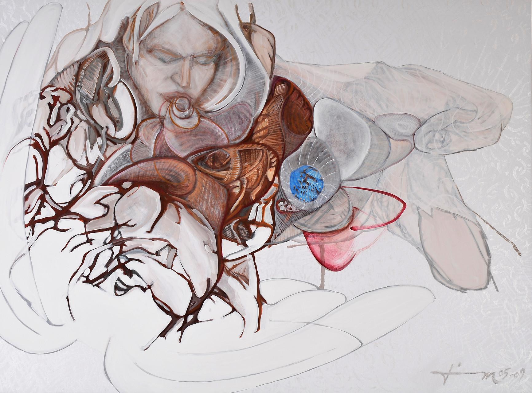 Befreiung, Thomas M. Mayrhofer, 2005-2009, 195x145cm, Acryl auf Textil