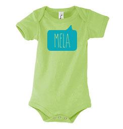 Mela Baby Bodysuit Green Malta Souvenirs