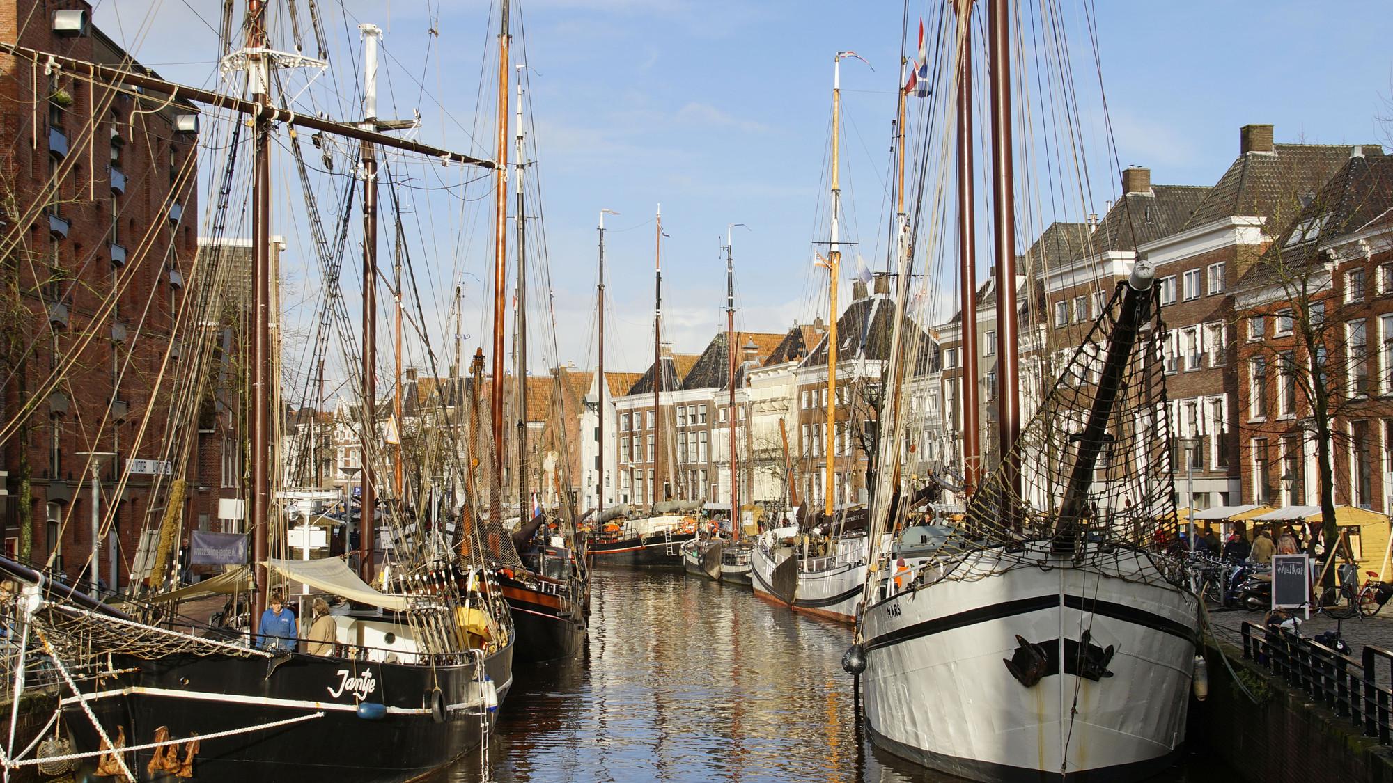 Het Hoge der Aa in Groningen vlakbij het Scheepvaartmuseum