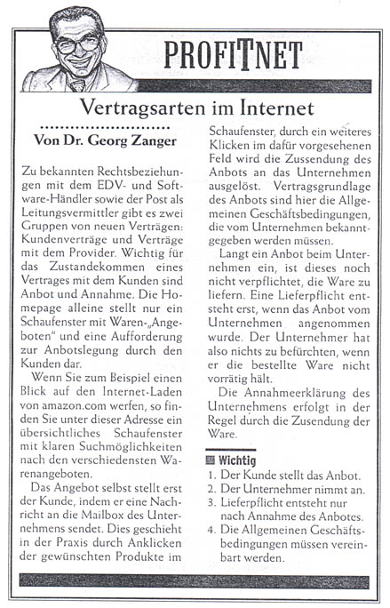 Vertragsarten Im Internet Rechtsanwalt Prof Dr Georg Zanger