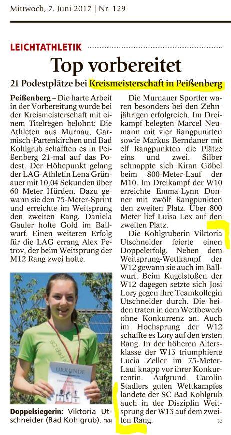 GAP Tagblatt vom 07.06.2017