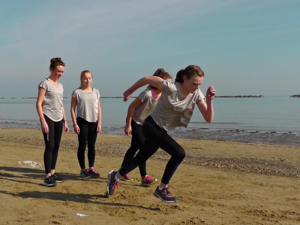 Sprints am Strand...