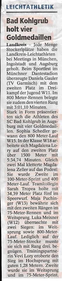 Augsburger Abendsportfest 09.06.2015