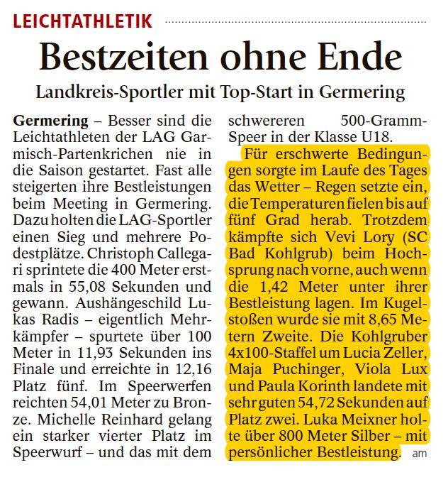 GAP Tagblatt vom 12.05.2017