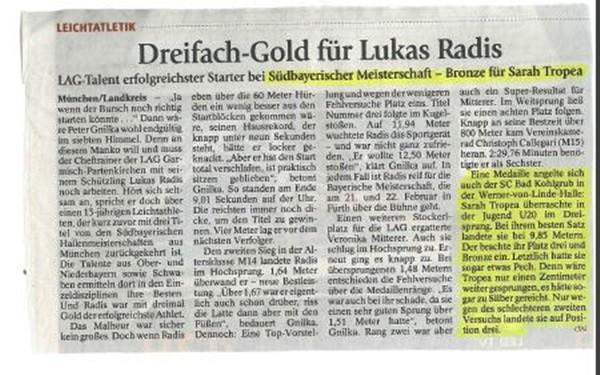 Südbayrische Hallenmeisterschaft München