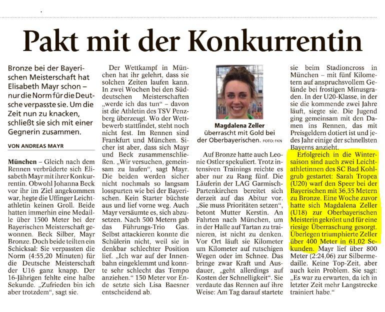Münchner Merkur vom 25.01.2017