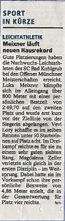 Offene Münchner Meisterschaften 05.07.2014