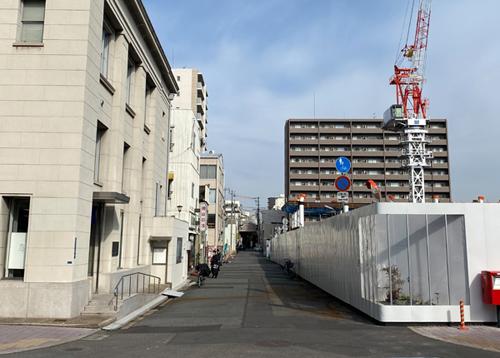 劇場建設に伴う歩道整備写真合成の現況写真