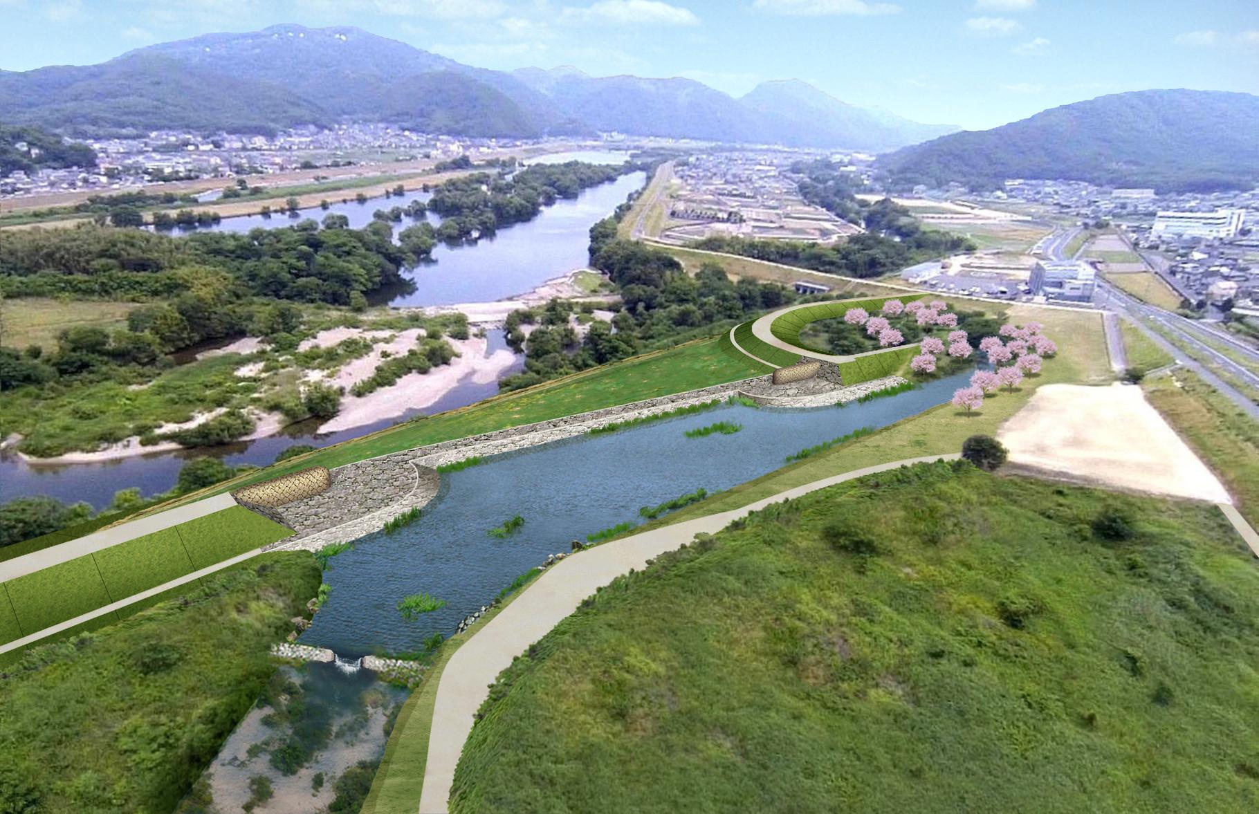 河川整備後イメージ