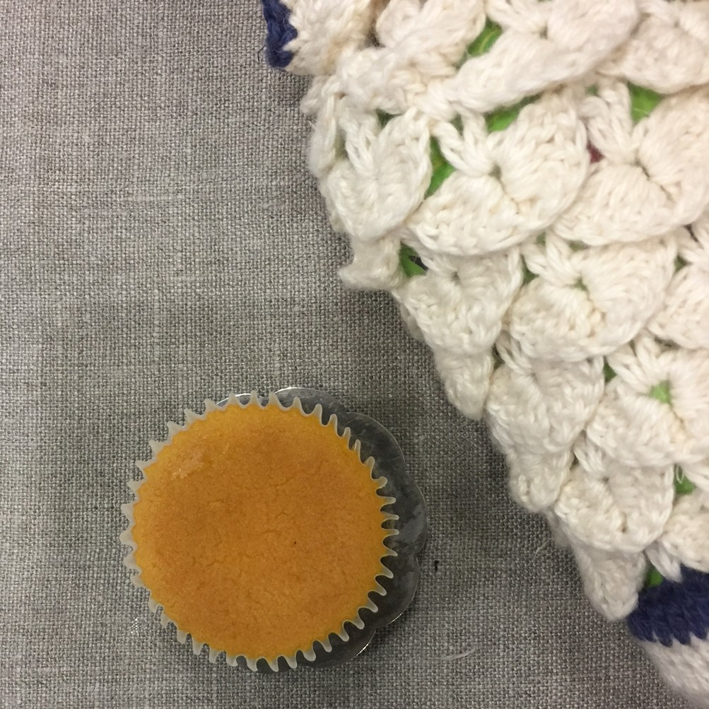 マンゴーマドレーヌ、手編みカバーのお茶 ありがとうございました!
