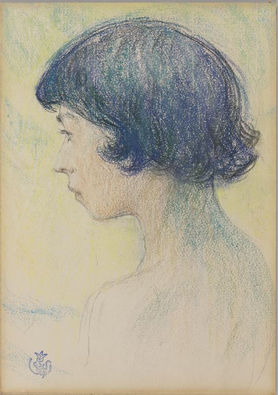 Claude-Émile Schuffenecker, Le garçonnet, pastel sur papier, collection musée des beaux-arts de Brest métropole.