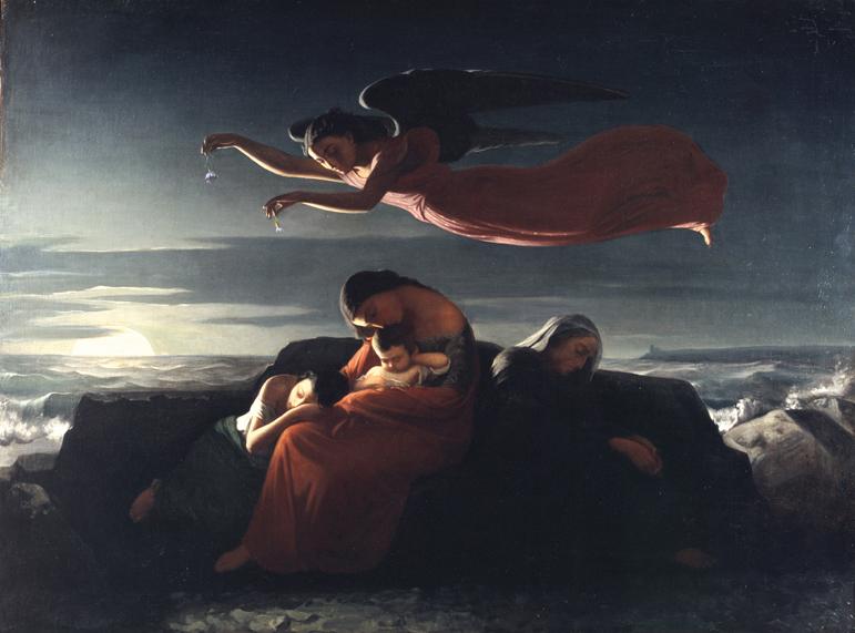 Alphonse Cornet, Allégorie du sommeil, huile sur toile, collection musée des beaux-arts de Brest métropole.