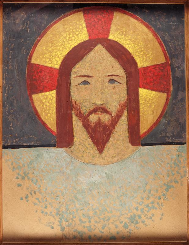 Paul Sérusier, La Sainte-Face, vers 1904, huile sur carton, collection musée des beaux-arts de Brest métropole.