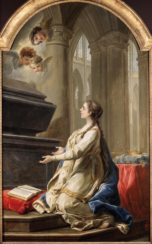 Carle Van Loo, Sainte Clotilde en prière, 1753, huile sur toile, collection musée des beaux-arts de Brest métropole.