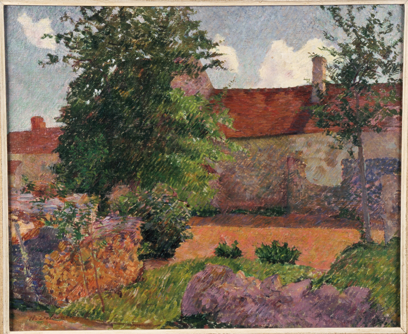 Henri Delavallée, Paysage à Marlotte, 1884, huile sur toile, collection musée des beaux-arts de Brest métropole.