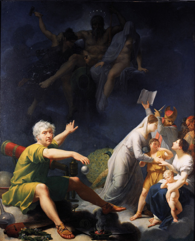 Jean-Baptiste Regnault, L'homme physique, l'homme moral et l'homme intellectuel, vers 1810, huile sur toile.