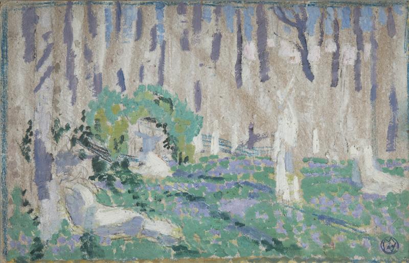 Maurice Denis, Esquisse pour Orphée aux jacinthes, vers 1905, huile sur carton, collection musée des beaux-arts de Brest métropole.