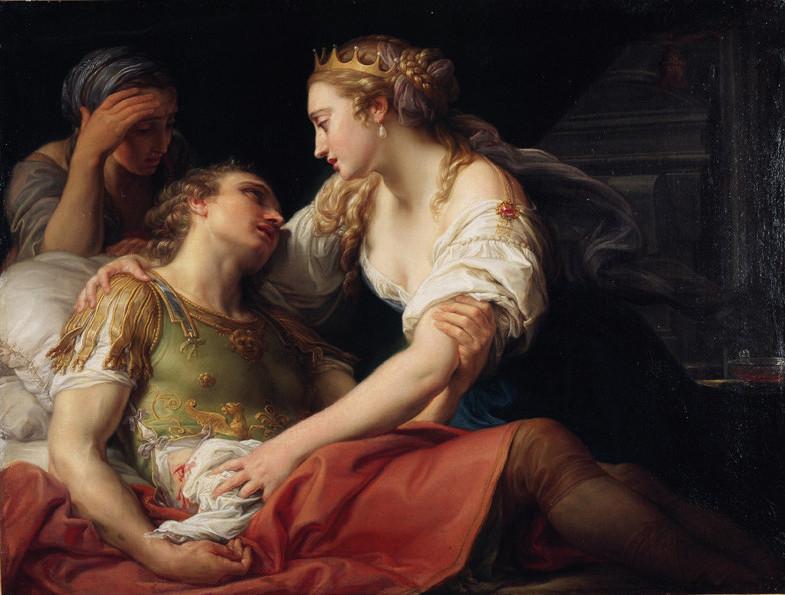 Pompeo Batoni, La Mort de Marc-Antoine, 1763, huile sur toile.