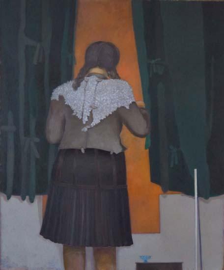 L'étole - 120 x 100 - Huile sur toile