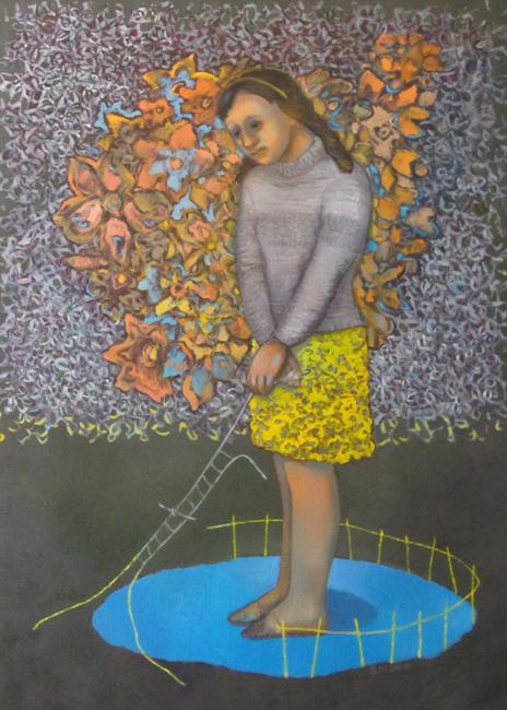 Autoportrait sans titre - 110 x 80 - Huile sur toile