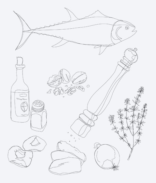 Illustrationen für ein Kochbuch von Sarah Wiener (ecovin)