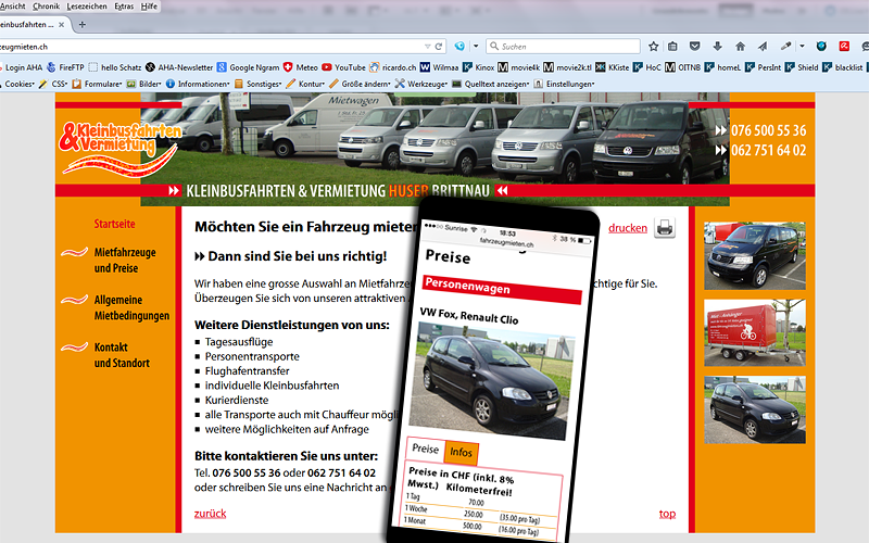 Neue Site in HTML
