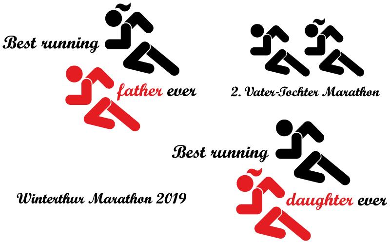 Grafik für Laufshirts von Vater & Tochter