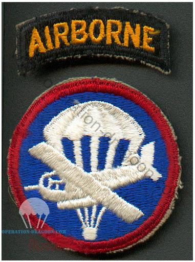 Insigne de calot, et d'épaule de John JEWELL.  Airborne Patches