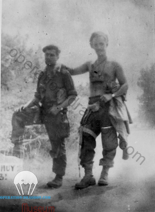 Lt Dumbo WILLANS and Captain Peter BAKER, Le Mitan, August 15, 1944