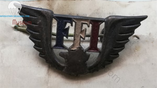 Insigne FFI n°108 783 de Robert LATIL. (collection privée)
