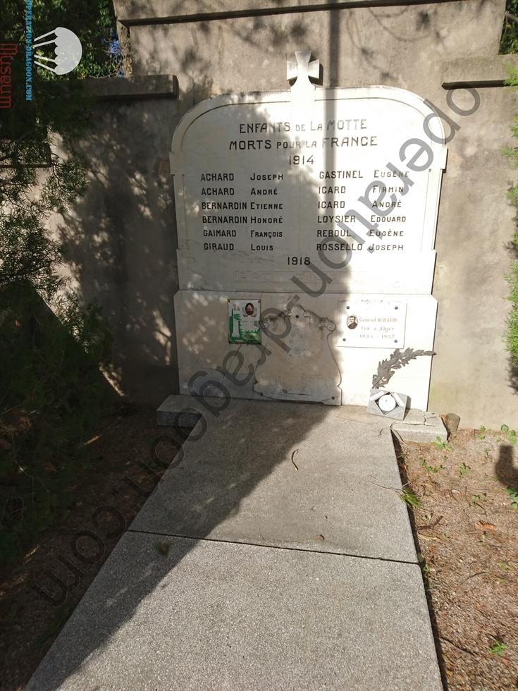Rappel monument aux mort au cimetière