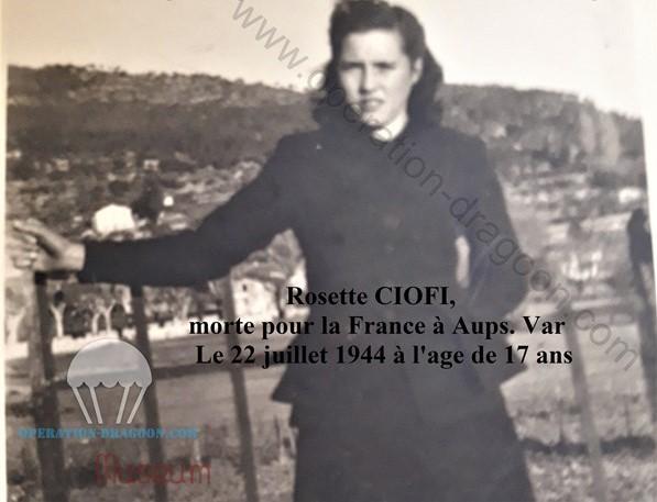 rare photo de Rosette, confiée par la famille. Merci à Martine Ciofi.