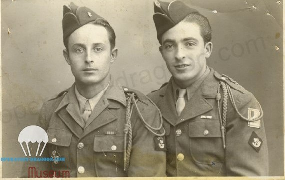 Frères d'armes devenus amis pour la vie. Narcisse BAGATTIN, de Ste Tulle, et Jean GILLI à droite. 73 ans d'amitié.