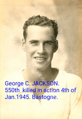 "Georges "" Tex"" C. JACKSON . landed by glider in southern France on the 15th of august 1944 near La Motte. Le Mitan. he was killed near Bastogne on the 05th of january 1945."