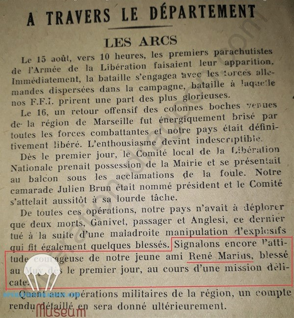 Article de presse du 22 août 1944 'collection operation-dragoon.com