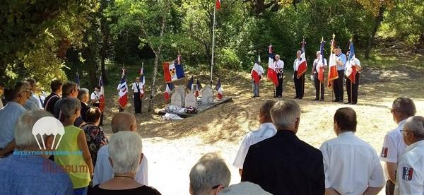cérémonie du 29 juillet 2020 au pont du caramy