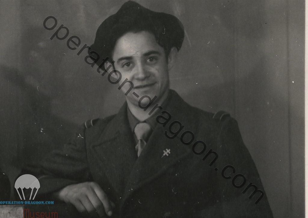 Sylvain pendant son engagement dans la 1ere armée Française. 1945