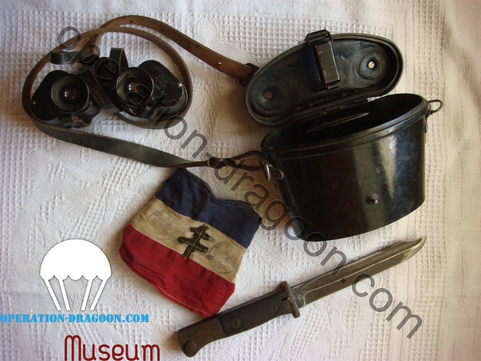 Bassard et objets pris à l'ennemie par Louis ARNAUD en 1944 ( collection ARNAUD )