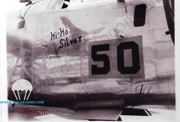 """Rare photo du """"HI HO Silvet"""" numéro 50 avant qu'il ne s'écrase en Provence. Picture Italy 1944"""