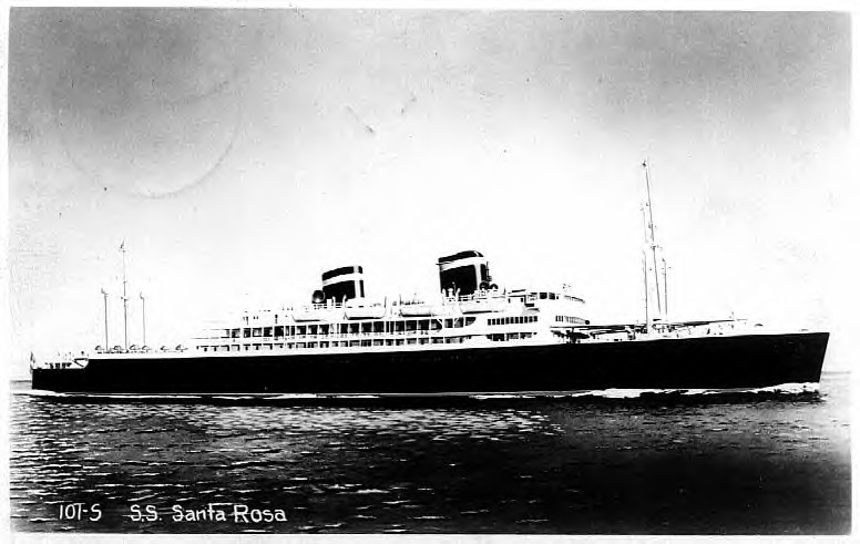 SS Santa Rosa arriving in Naples , 31 May 1944